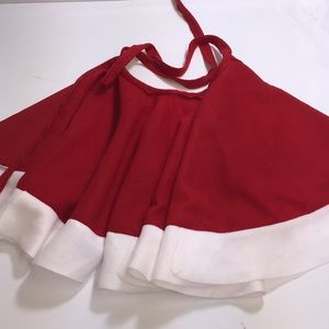 little girls 16 inch tie on skirt red and white